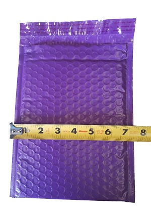 10 6x10 Purple Poly Bubble Mailer Envelope Shipping Wrap Plastic Mailing