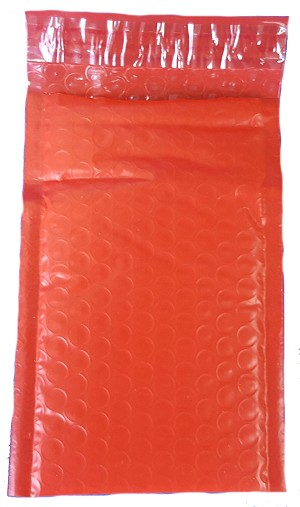 250 4x8 Red Poly Bubble Mailer Envelope Shipping Wrap Paper Mailing