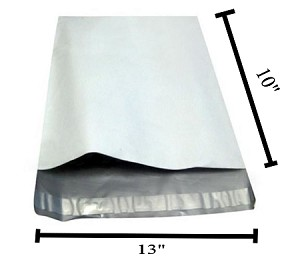 100 10x13x3 Expanded White Poly Mailer Envelope Bag 10x14