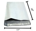 200 10x13x3 Expanded White Poly Mailer Envelope Bag 10x14