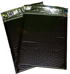 250 6x10 Black Poly Bubble Mailer Envelope Shipping Wrap Paper Mailing
