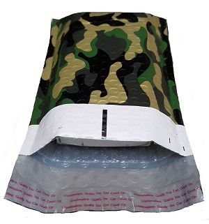 25 4x8 Camo Poly Bubble Mailer Envelope Shipping Wrap Paper Mailing