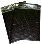 25 4x8 Black Poly Bubble Mailer Envelope Shipping Wrap Paper Mailing
