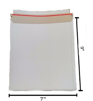 100 - 7x9 Self Seal White Photo Stay Flats Cardboard Envelope Mailer Mailers Free Shipping