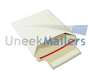 100 - 6x6 Stay Flat Rigid CD Cardboard Mailer