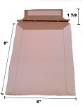 25 - 6x8 Stay Flat Rigid Photo Cardboard Mailer