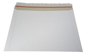100 - 9 3/4 x12 1/4 Stay Flat Rigid CD Cardboard Mailer